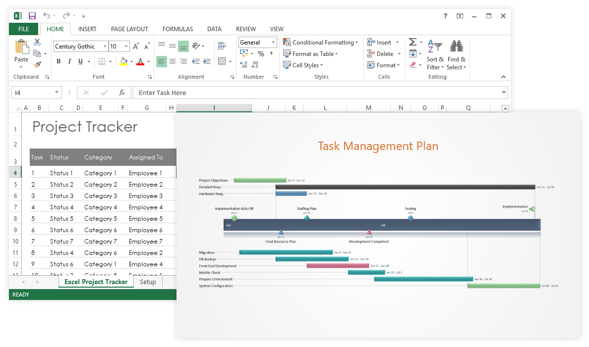 Task Management Templates for Excel and PowerPoint