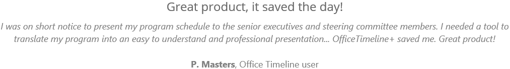 office timeline customer testimonial