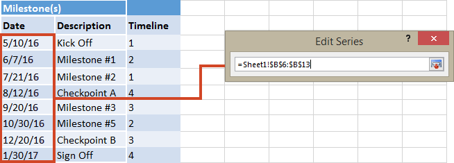 how to add date edit excel
