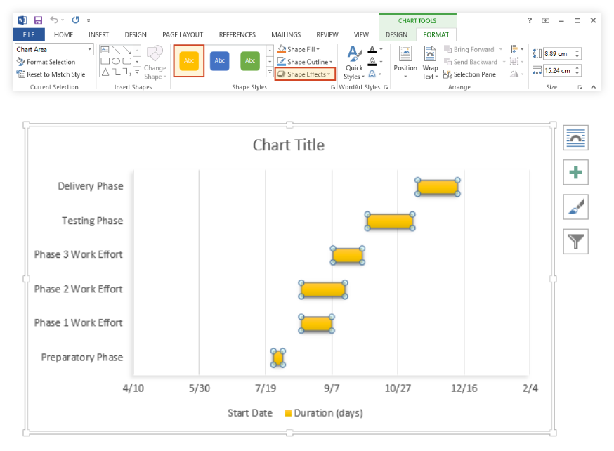 Ly Chart Effects In Ms Word