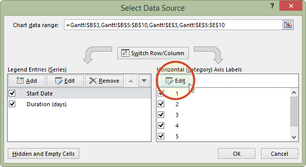 Select data source