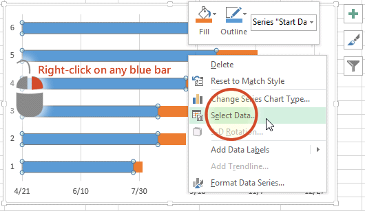 gantt chart excel step by step visual tutorial