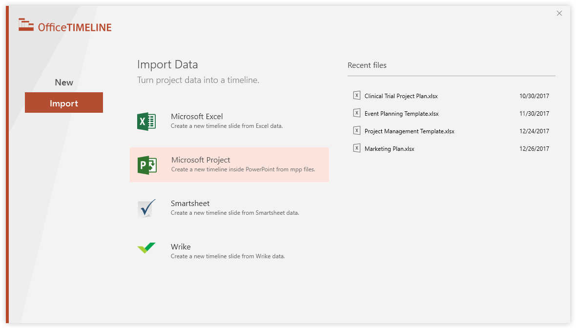 Microsoft Project – PowerPoint integration wizard