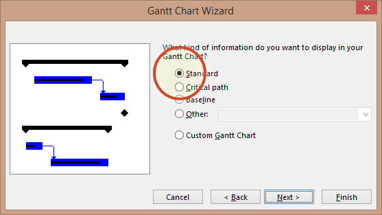 gantt chart wizard addin step 1 office timeline