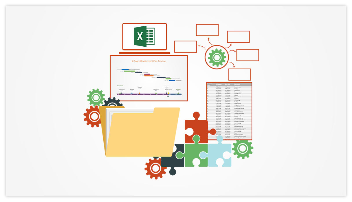 Office Timeline Using Excel For Project Management - Best project tracker excel template