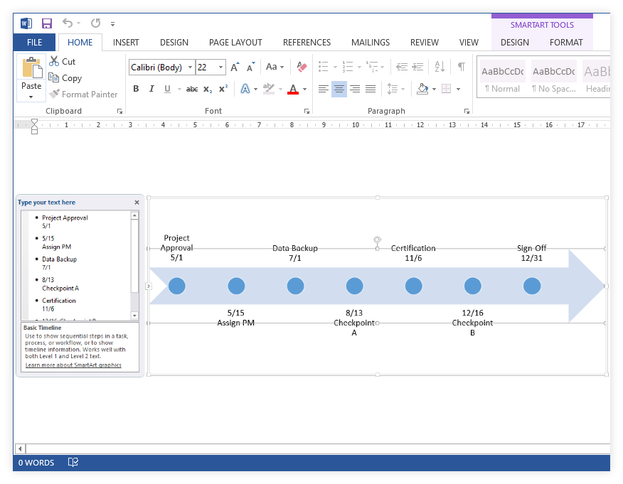 How to Make a Timeline in Microsoft Word + Free Template