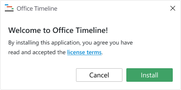 Installez Office Timeline