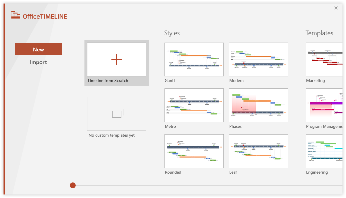 Office timeline gantt chart template collection product screen shots new import data download free gantt chart ccuart Gallery