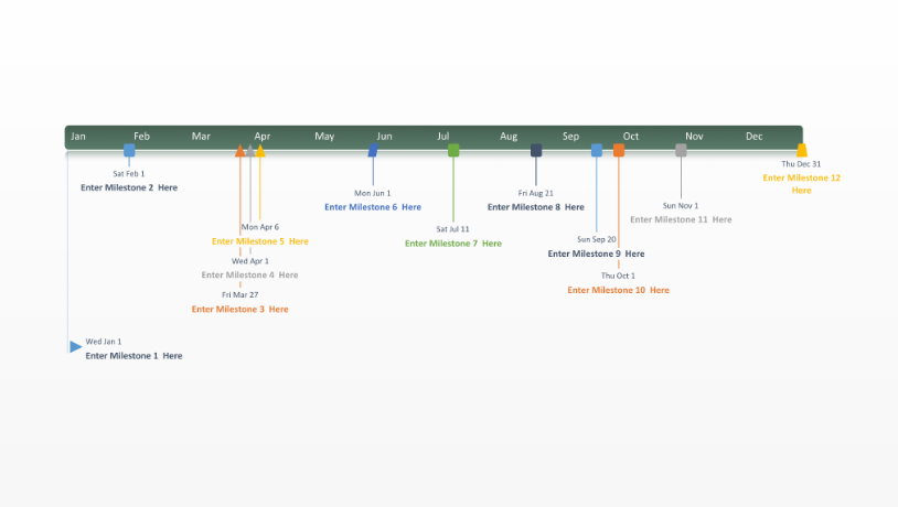 Office timeline free timeline templates for professionals twelve month timeline toneelgroepblik Images