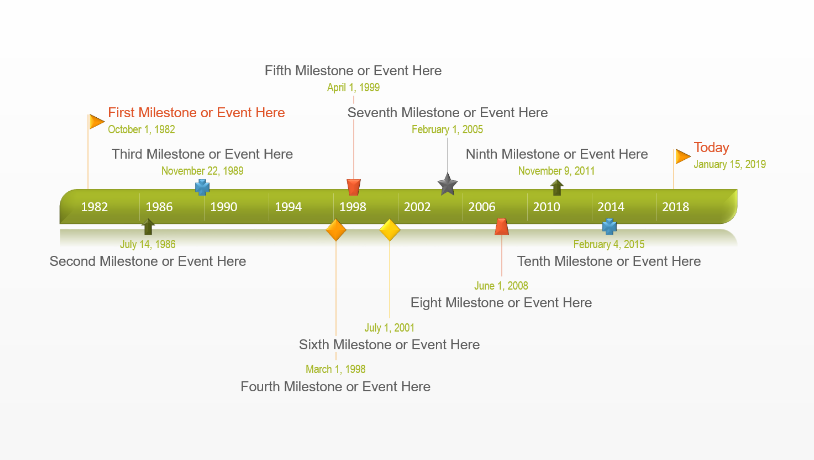 Office Timeline Free Timeline Templates For Professionals - Powerpoint timeline templates