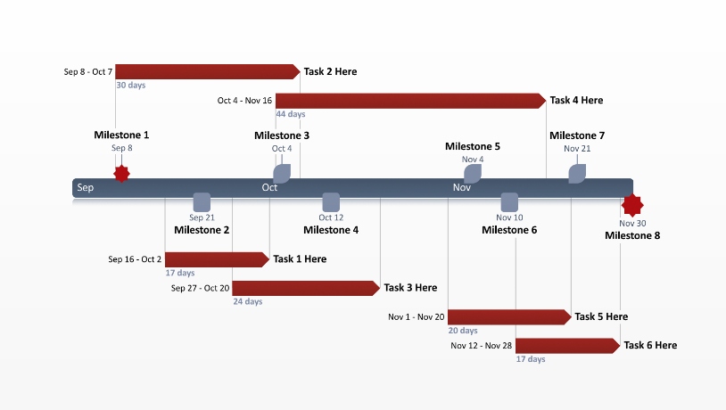 Office timeline powerpoint template free timeline templates free gantt chart template office schedule template toneelgroepblik