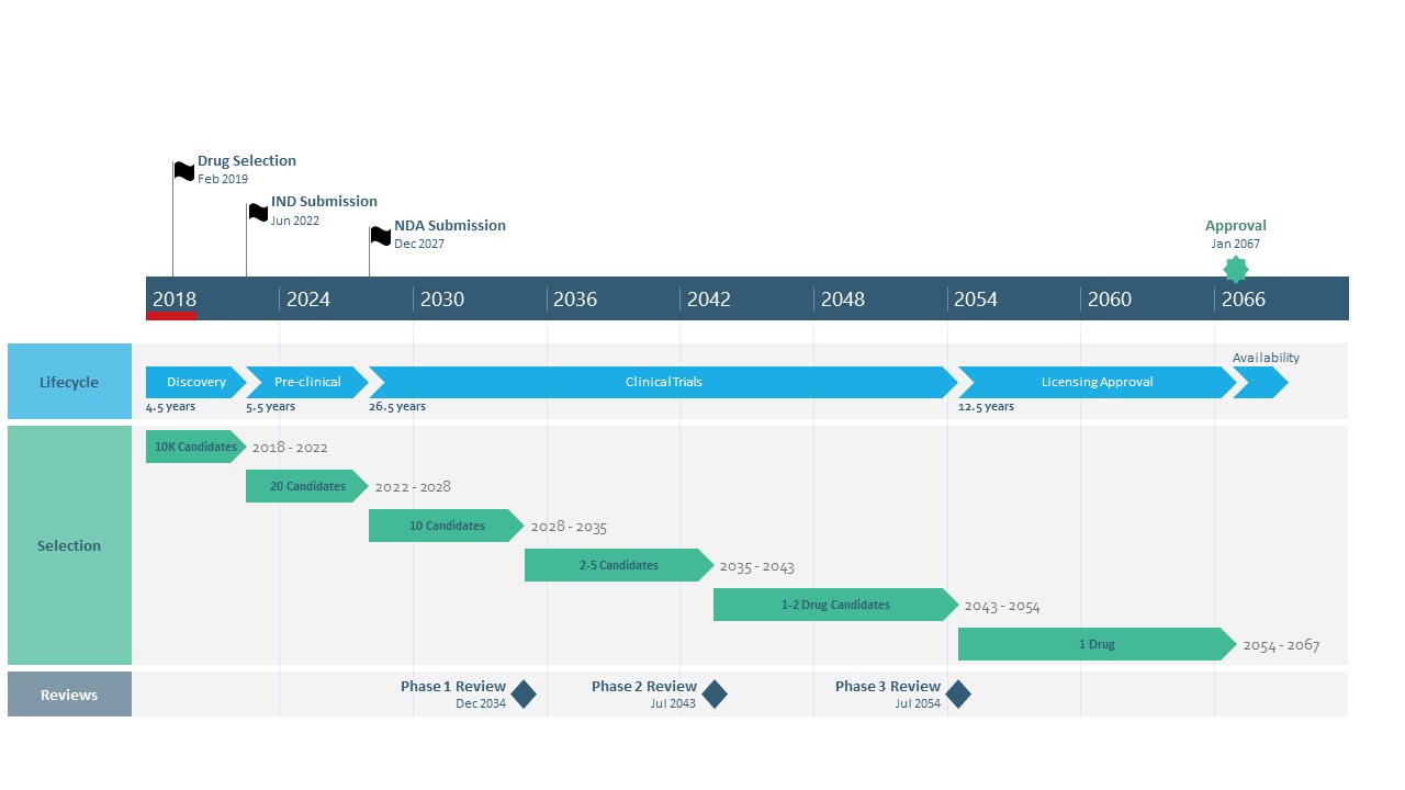 Pharmaceutical Product Discovery Timeline Template