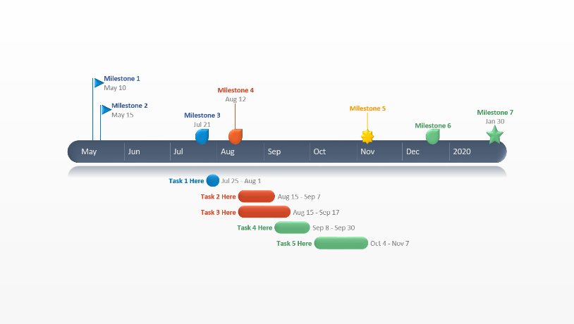 Office Timeline Free Timeline Templates For Professionals - Roadmap timeline template