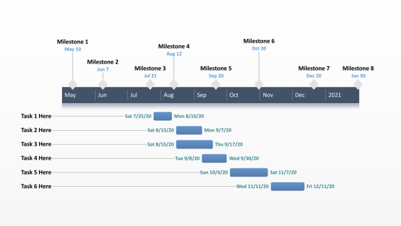 Office Timeline Excel Timeline How To - Personal roadmap template