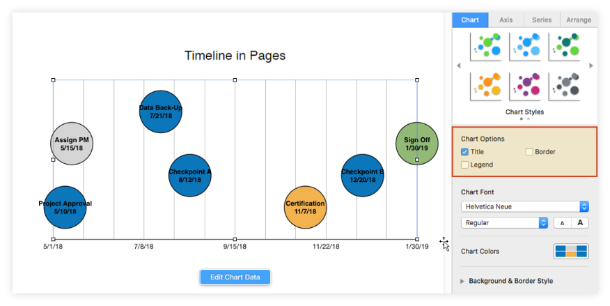 Add Title to Pages Timeline
