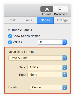Format Bubble Labels