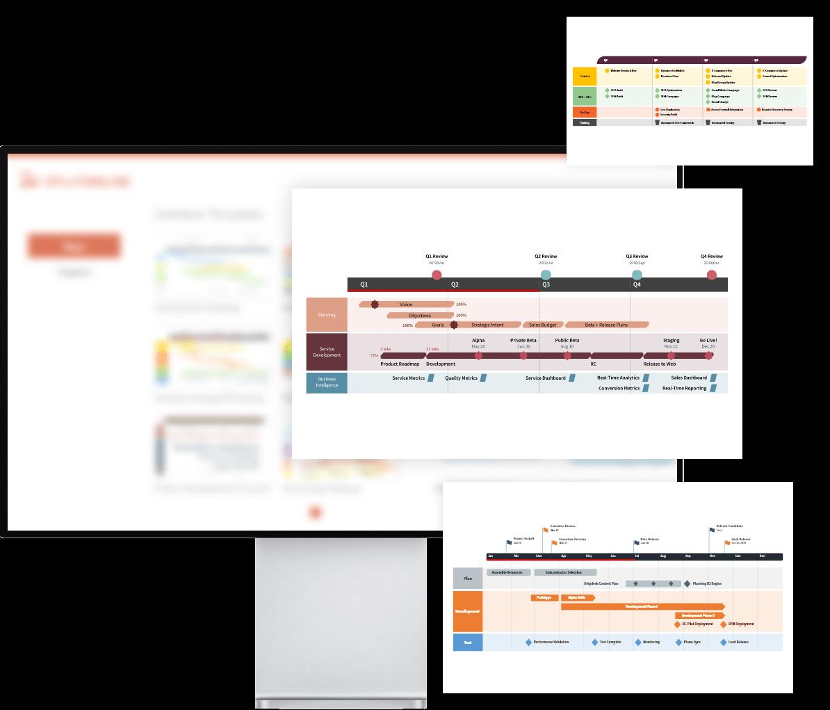 Modèles de feuille de route PowerPoint