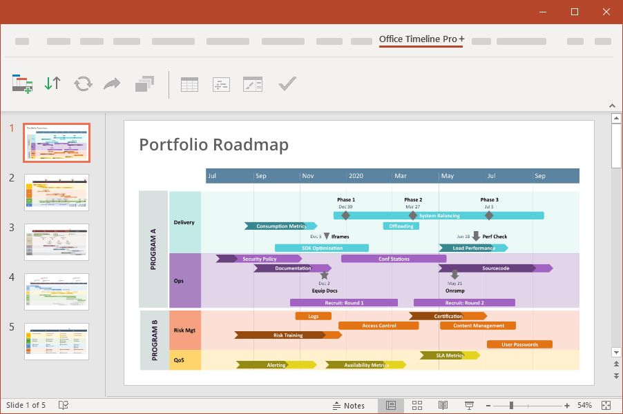 Make roadmaps in PowerPoint