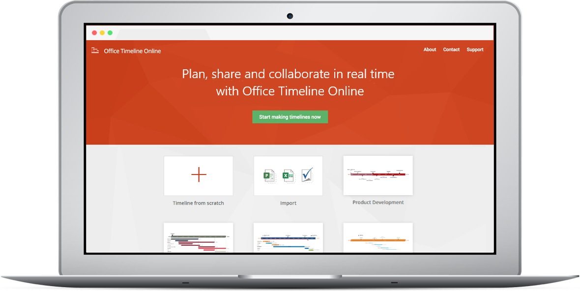 Free online timeline maker for Mac or Windows
