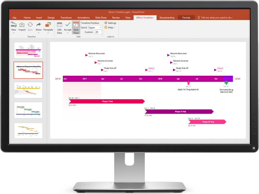 Free PowerPoint timeline maker for Windows