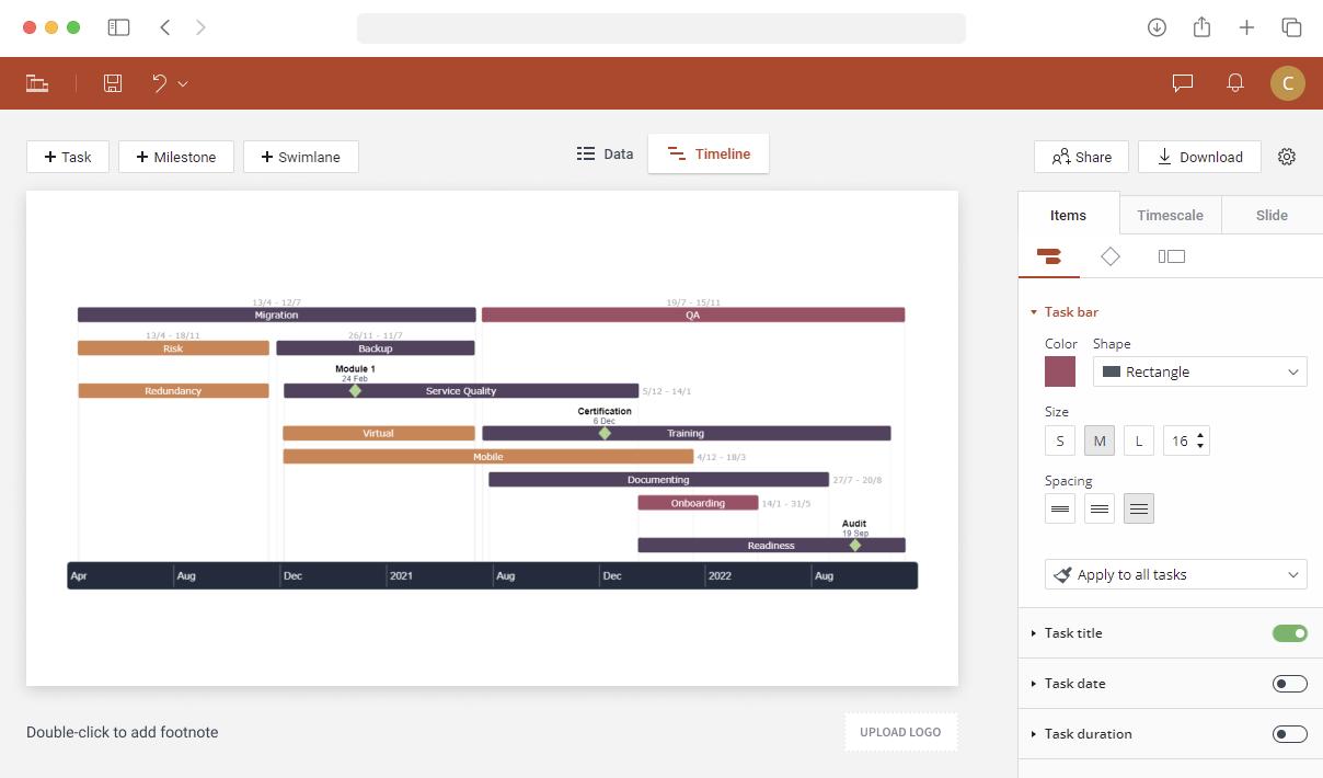 Gantt chart web app
