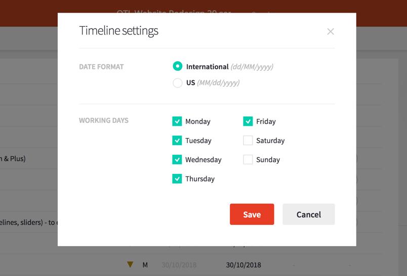 Configure working days