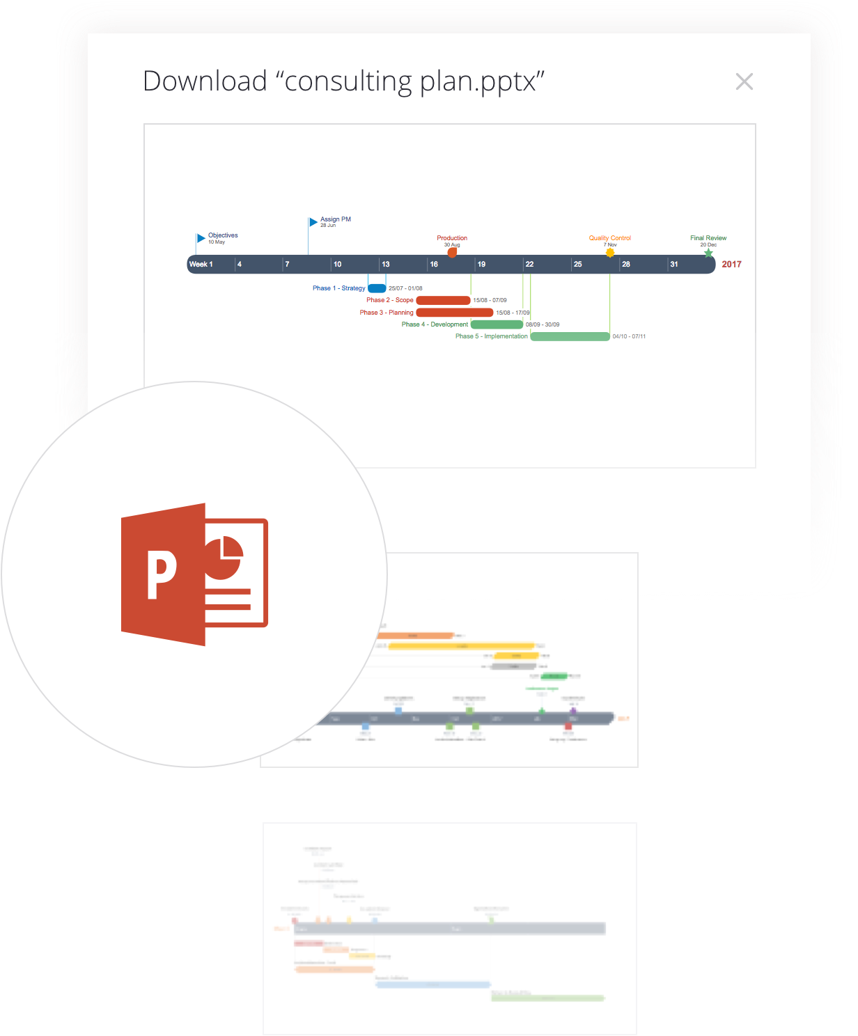 Download more PowerPoint timelines