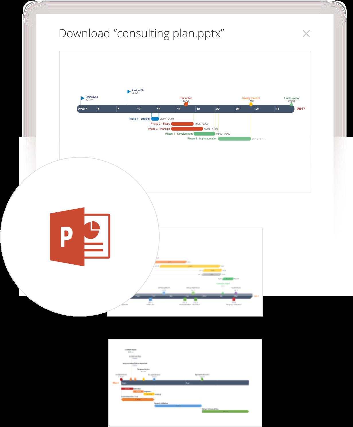 Download meer PowerPoint-tijdlijnen