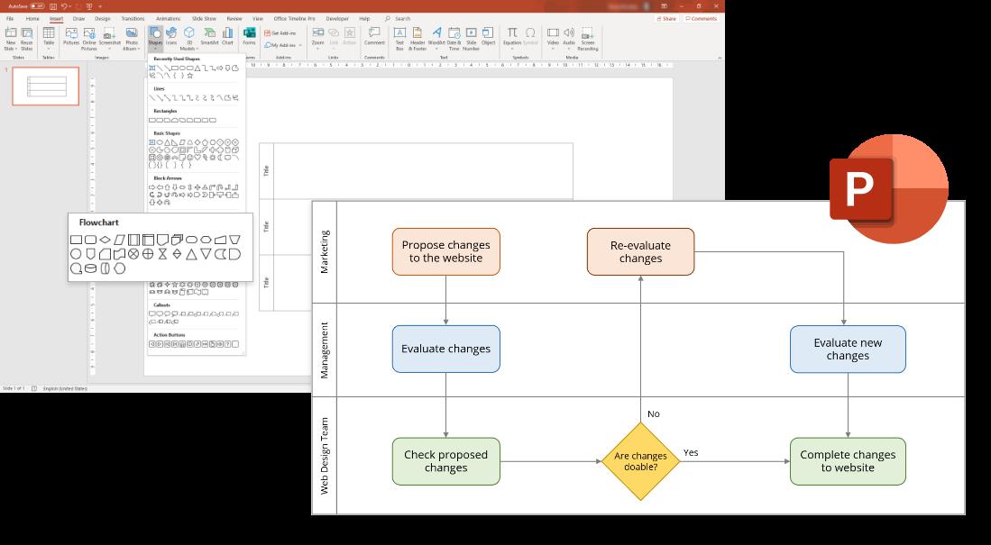 Swimlane Diagram tutorial for PowerPoint
